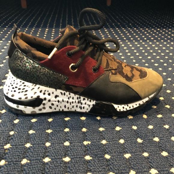 Steve Madden Cliff Olive Multi Sneakers